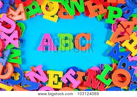 Plastic Colored Alphabet Letters Abc
