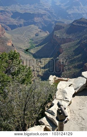 Grand Canyon Ancient River And Rock Vista