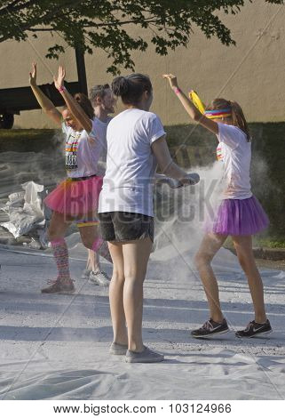 Color Runners Get Sprayed