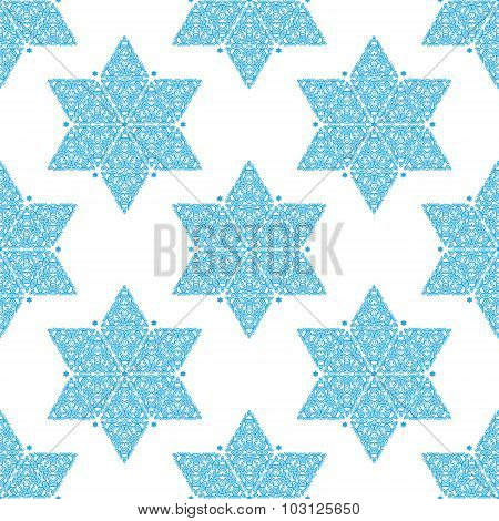 Star Of David Seamless Pattern