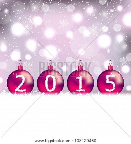 Happy New Year in glass balls