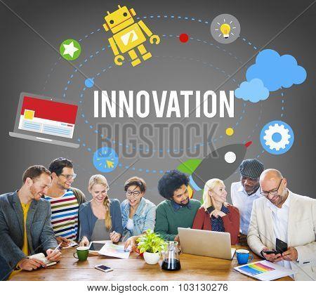 Innovation Plan Planning Ideas Launch Start Up Success Concept