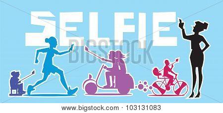 People make extraordinary Selfie