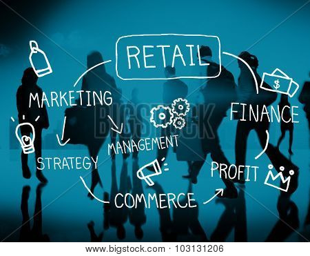 Retail Online Marketing Strategy Commerce Advertising Concept