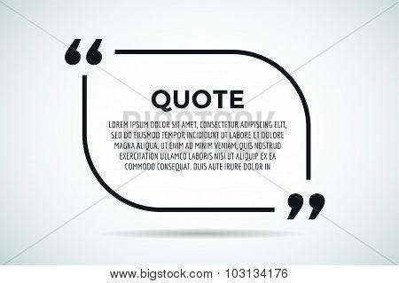 Quote blank template bubble empty design