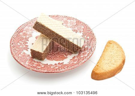 Wafers With Chocolate And Cracker
