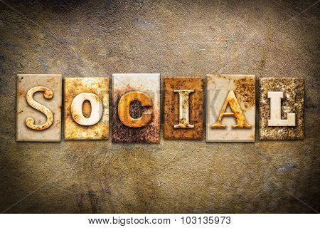 Social Concept Letterpress Leather Theme