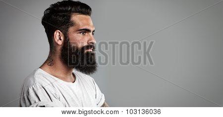 Mockup of beard and mustache man