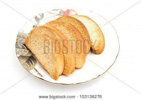 Some Crackers On Glass Plate