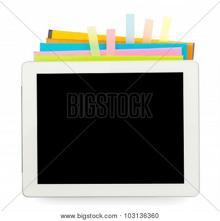Copybooks with tablet