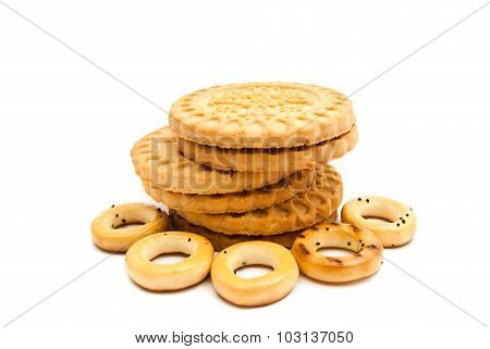 Stack Of Cookies And Bagels