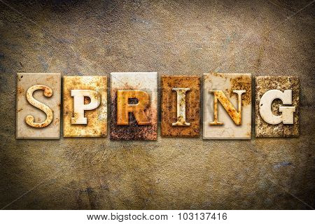 Spring Concept Letterpress Leather Theme
