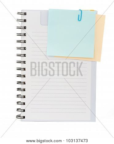 Copybook with stickers
