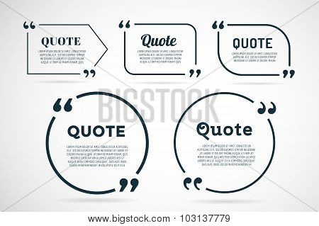 Quote blank template bubble empty design