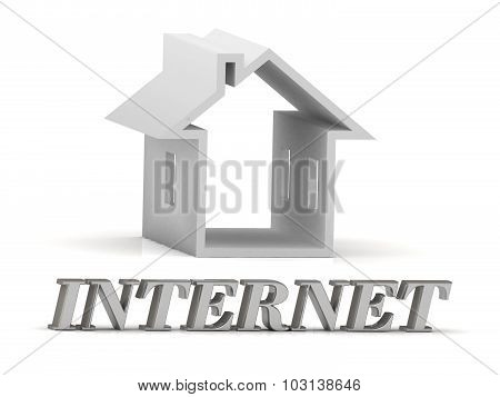 Internet- Inscription Of Silver Letters And White House