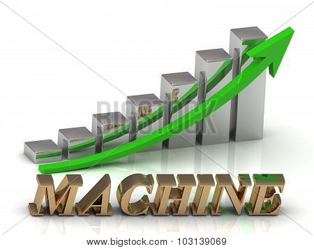 Machine- Inscription Of Gold Letters And Graphic Growth