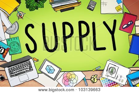 Supply Production Strategy Distribution Business Concept