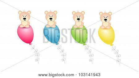Bears On Balloons