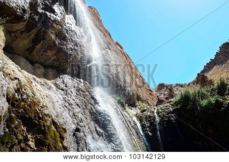 Semirom Waterfall area, isfahan, iran
