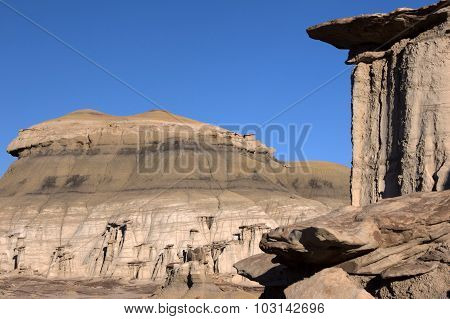 Bisti Badlands, New Mexico, Usa