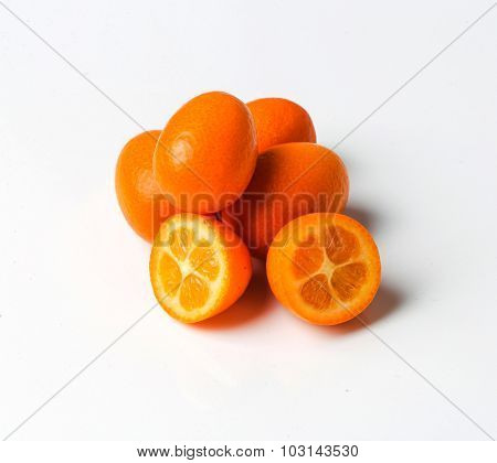 Delicious mandarin on a white background