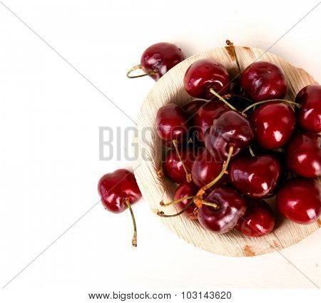 Berry. Cherry on a white background