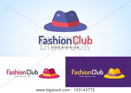 Shopping hat icon logo. Hat isolated on white background. Shopping, sale, discount, shop or store web element. Company hat logo. Shopping vector bag icon. Black friday. fashion logo