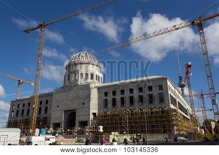 Construction site of the berlin city palace, Berlin Germany