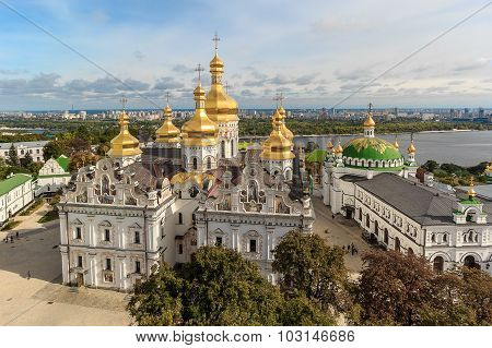 View of the Assumption Cathedral of the Kiev-Pechersk Lavra