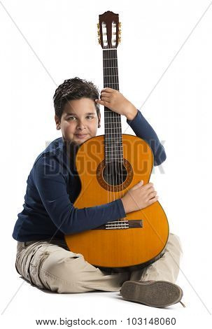 Child Loves His Guitar