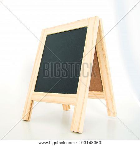 Wood Display Chalkboard