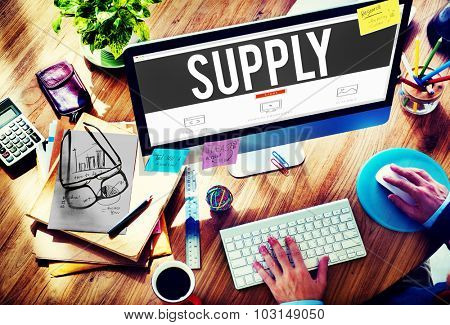 Supply Stock Marketing Logistic Distribution Business Concept