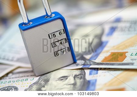 padlock on the dollars