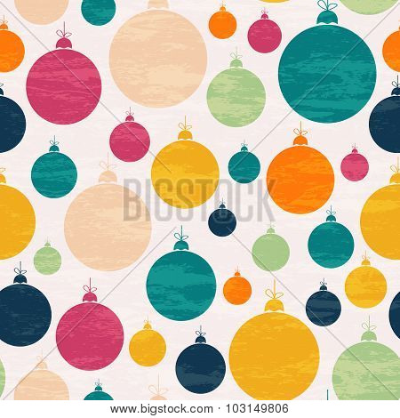 Seamless Pattern With Christmas Ball.