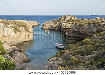 Narrow Gulf In Greece