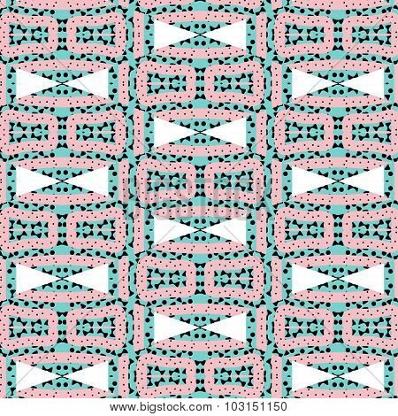 Romantic Pink Symmetrical Pattern
