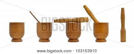 Wooden Mortar, Kitchenware