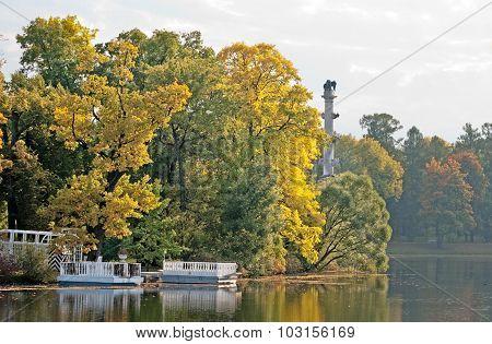 Tsarskoye Selo (Pushkin). Saint-Petersburg. Russia. The Catherine Park