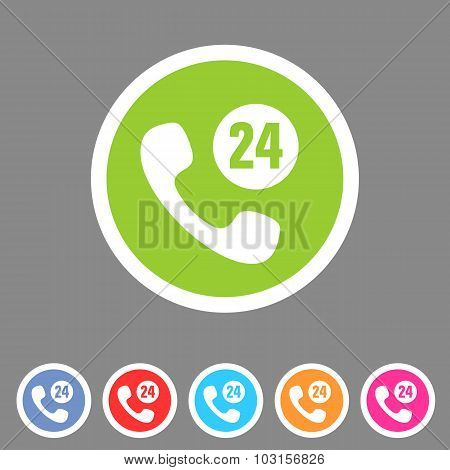 call support center icon flat web sign symbol logo label