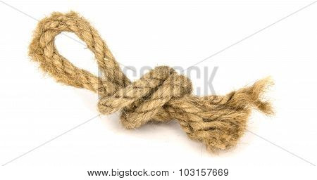Knot With A Loop From A Thick Rough Rope