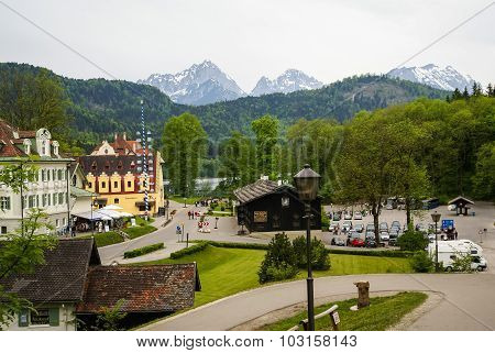 Scenic Landscape In An Area Of Castle Hohenschwangau In Bavaria