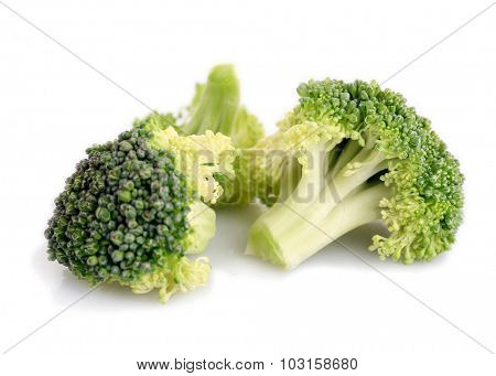 Fresh broccoli isolated on white
