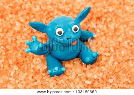 Blue Plasticine Monster