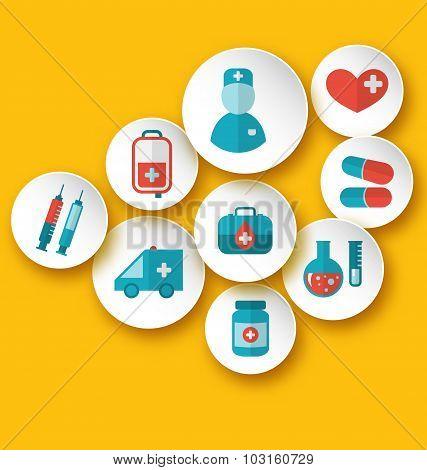 Set medical icons for web design