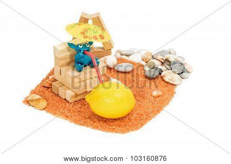 Plasticine Monster On The Beach