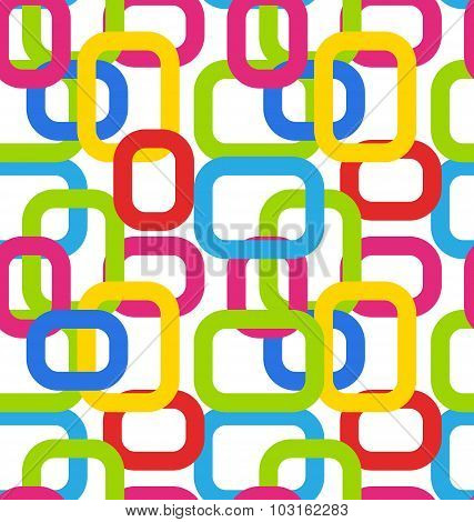 Seamless Geometric Pattern with Colorful Rectangles