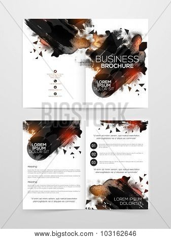 Creative Two page Business Brochure, Flyer, Banner or Template with front and inner presentation.