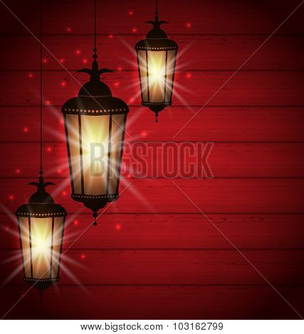 Arabic lamps for holy month of muslim community