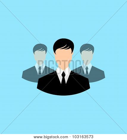 Avatar set front portrait office employee team for web design ap