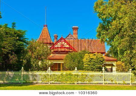 Turretted Victorian Mansion in Rural Australia